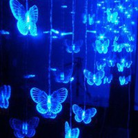 CIS-84020 Lovely Home Decoration Blue LED String Lamp with 2Mx1M 108 Butterfly Leds - AC220V China Wholesale - Sammydress.com