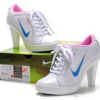 Cheap Pink White Blue Nike Dunk Heels 2011 Lady
