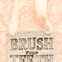 Brush Your Teeth Wall Hanging  | Lisa Leonard Designs
