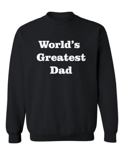 So Relative! - World's Greatest Dad (Grey & White) - Adult Crewneck Sweatshirt (Assorted Colors & S