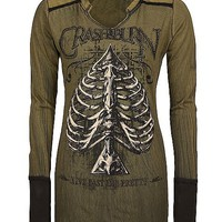 Crash & Burn Spade Ribs Top - Women's Shirts/Tops | Buckle