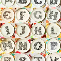 A Is For All-U-Can-Eat: Alphabet Dinner Plates | Incredible Things