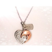 High Quality 8 GB Heart Crystal Jewelry USB Flash Memory Drive Necklace