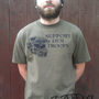 "Halo ""Support the troops"" unisex army green t-shirt"