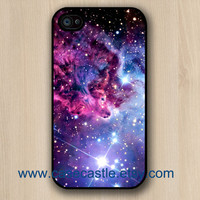 Fox Fur Nebula on Black Iphone 4 case, Iphone 4S case, Plastic hard case, Waterproof iphone case
