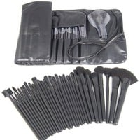 Professional Natural Goat Hair Makeup Brush Set Contains 32 Brushes