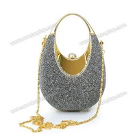 Fashionable Glitter Embellish Evening Bag Handbag