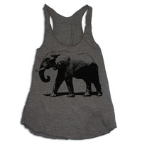 Womens ELEPHANT american apparel Tri-Blend Racerback Tank Top S M L (coffee brown)