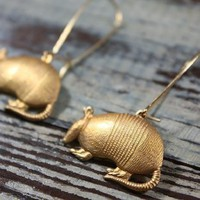 Armadillo Desert Earrings from Christine Domanic Jewelry