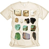 MINERALS Tshirt Science Geology Tee Rocks MENS shirt