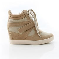 Lace Up Wedge Sneaker | Trendy Shoes at Pink Ice