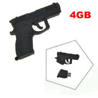 Cool Design 4GB Gun Shape USB 2.0 Flash Memory Drive U Disk Black