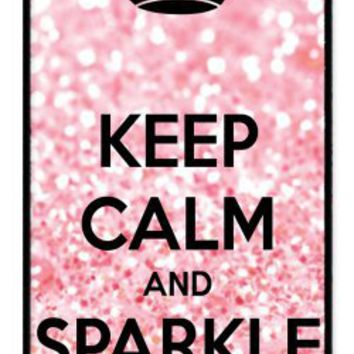 Keep Calm and Sparkle On rubber iphone 4 case - Fits iphone 4 & iphone 4s