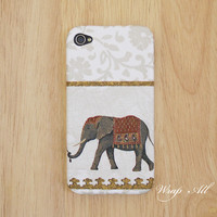 Elephant iPhone 4 case - White / iPhone 4s case / iPhone Case / iPhone cover