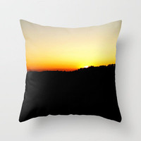 Warm Wisconsin Sunset Throw Pillow by Josrick | Society6