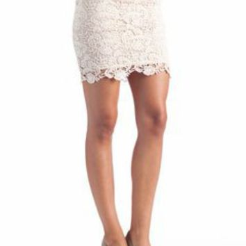 layered crochet skirt $19.60 in CREAM - Skirts | GoJane.com