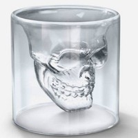 Novelty Crystal Skull Shot Glass Cool Cup