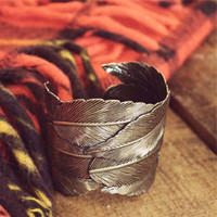 Feathered Cuff Bracelet, Sparkling Country Jewelry