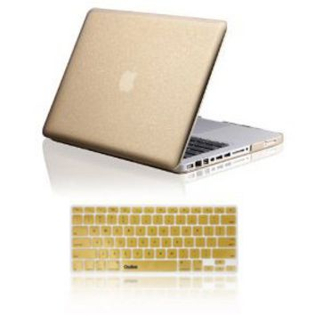"Osaka STARDUST series Gold Case / Cover for 13"" A1278 Aluminum Unibody MacBook Pro (Black keys, 13.3-inch diagonal screen) + Gold Keyboard Skin/Cover for 13-Inch A1278 Aluminum Unibody MacBook Pro"