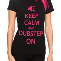 Keep Calm And Dubstep On Girls T-Shirt Plus Size Size : XX-Large