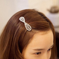Buy wholesale Elegant Silver Tone Rhinestone Pearl Hair Barrette