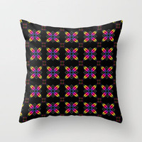 Rainbow Petals Throw Pillow by Alice Gosling | Society6