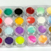 350buy 24 Colors 3D Nail Art Glitter Acrylic Powder Decoration