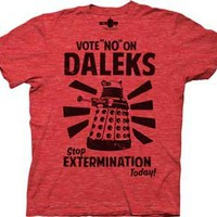 Dr who t shirt Vote no on Daleks Doctor who shirt great vintage tee ! LARGE