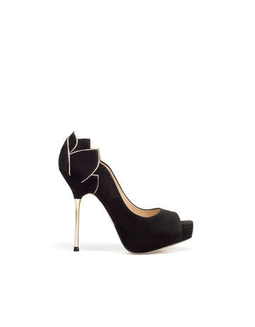 PEEP-TOE WITH FLOWER - Shoes - Collection - Woman - ZARA United States