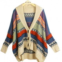 *Free Shipping* Hot Sale Blue Cape Style Cardigan Women Sweater from MaxNina