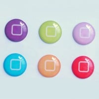 6pcs New Style Bottons Designs Home Button Stickers for iPad ipod iphone