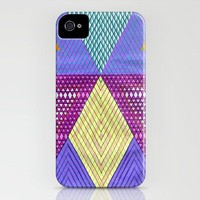 Isometric Harlequin #9 iPhone Case by KATE KOSEK | Society6