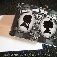 Mr and Mrs  Cameo Thank You Notes  Single Card by amyhouser