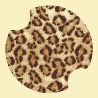 Leopard Print Carsters - Coasters for Your Car
