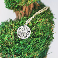 Sand Dollar Necklace Sterling Silver Jewelry