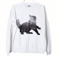 Galaxy Cat Sweatshirt Select Size by BurgerAndFriends on Etsy