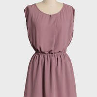 pressed lavender button back dress at ShopRuche.com