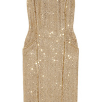 MICHAEL Michael Kors | Sequined metallic bouclé dress | NET-A-PORTER.COM