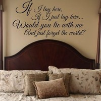 Amazon.com: Snow Patrol Chasing Cars Lyrics Vinyl Wall Decal Sticker Art: Home & Kitchen