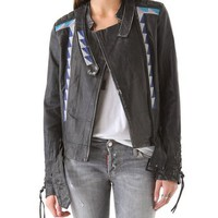 April, May Vanesa Leather Jacket | SHOPBOP
