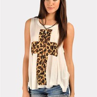 Cross My Heart Tank - Ivory