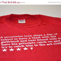 Bueller Movie Synopsis geek t shirt retro 80s high school flick rating tshirt men husband boyfriend brother son gift tee