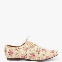 Floral Canvas Oxfords | FOREVER 21 - 2043351815