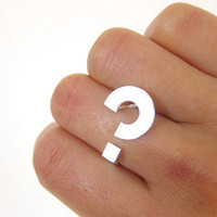 Classic Question mark - Handmade Silver rings | SmilingSilverSmith handmade silver ring