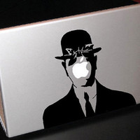 "Rene Magritte Son of Man 13"" Macbook Apple Laptop Decal"