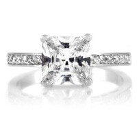 Trista's Promise Ring - Clear Princess Cut CZ: Jewelry: Amazon.com