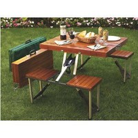 Amazon.com: Tailgate Folding Wooden Picnic Table: Patio, Lawn & Garden