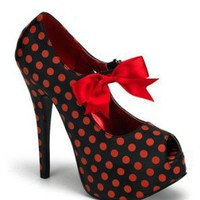Amazon.com: Bordello Polka Dot Pump With Bow - 8: Shoes