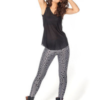 Maze Black Leggings - LIMITED | Black Milk Clothing