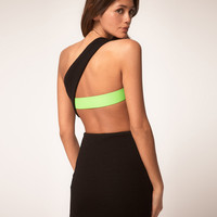 ASOS | ASOS One Shoulder Dress with Contrast Strap at ASOS